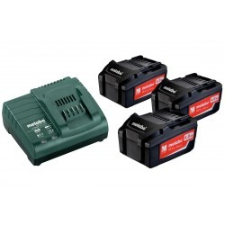 Metabo aku set BASIC SET 3x 4,0 Ah + ASC 30-36V