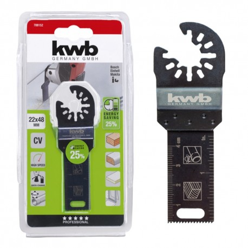 KWB nož za rezanje drveta, gipsa, plastike, 22 mm