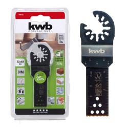 KWB nož Bi-metal za rezanje drveta, plastike, metala, aluminija, 22 mm