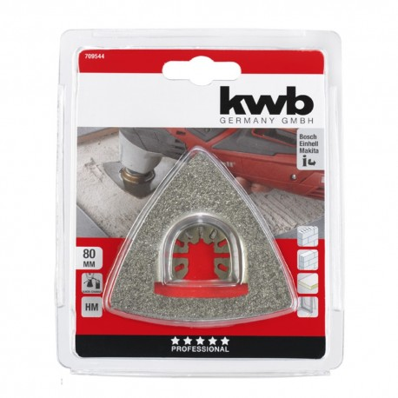 KWB trokutasta turpija HM za skidanje maltera, kamena, drveta, 80 mm