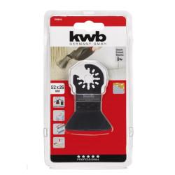 KWB tvrdi alat za struganje - odstranjivanje ljepila, maltera, tepiha, 52 mm