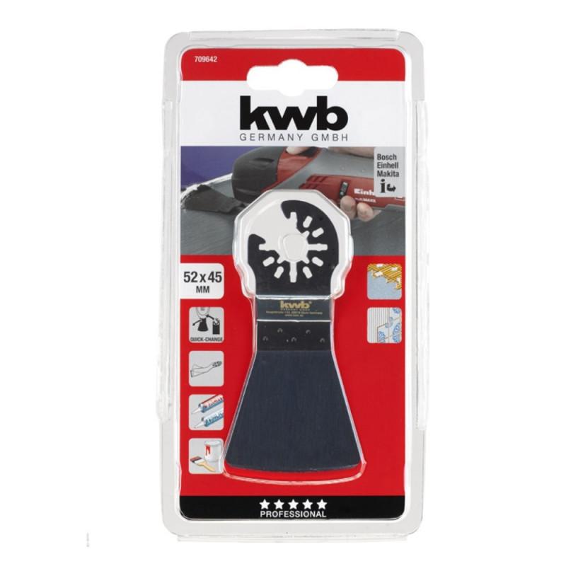 KWB fleksibilni alat za skidanje mekih materijala silikona, ljepila, farbe, 52 mm