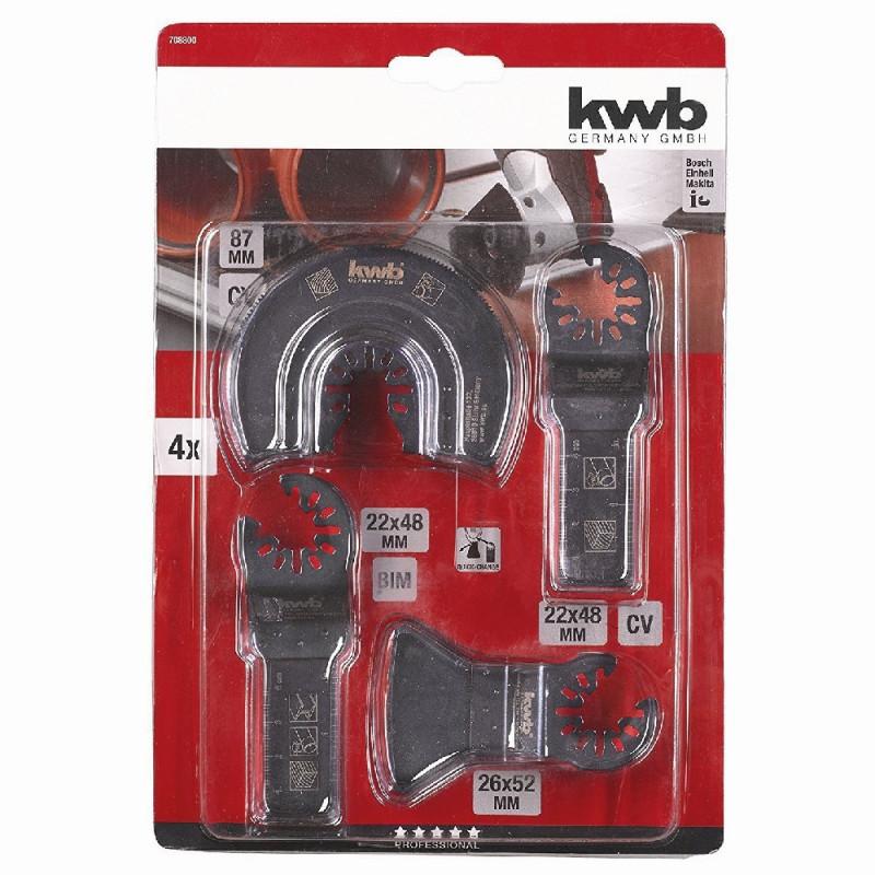 KWB univerzalni set za rezanje i čiščenje, 4 kom
