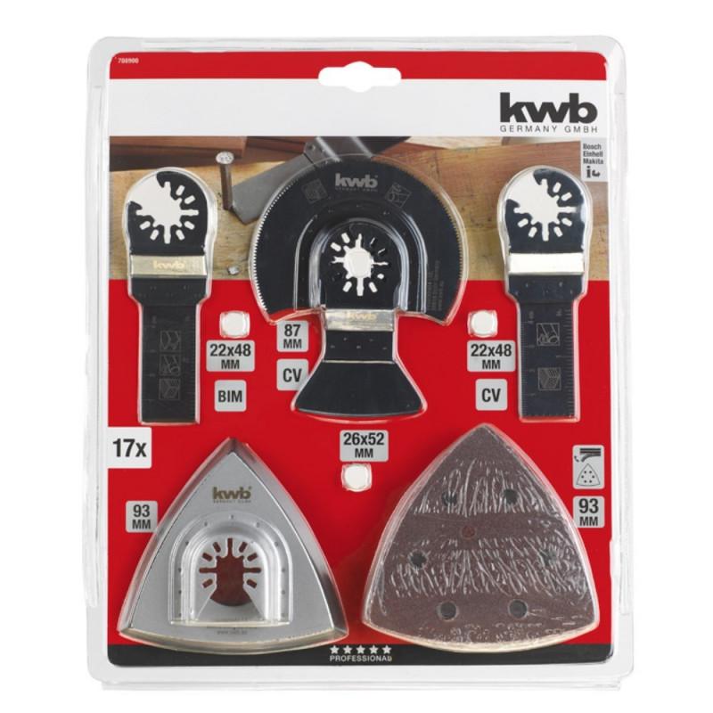 KWB univerzalni set za rezanje, čiščenje i brušenje, 17 kom