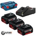 BOSCH 3x GBA 18V/5.0 Ah Li-Ion akumulator i brzi punjač GAL 1880 CV Professional u L-Boxx-u (0 615 990 L3T)