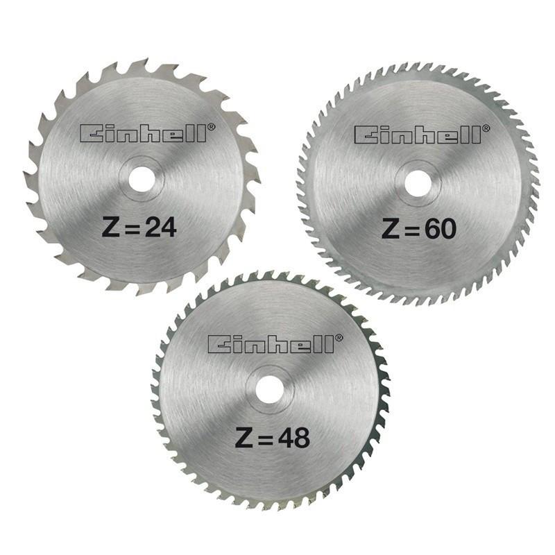 Einhell set reznih listova od tvrdog metala 3/1 Ø 210 x Ø 30 x 2,5 mm (4502132)