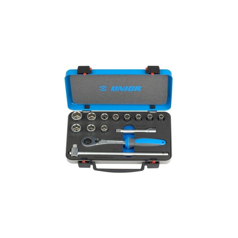 """Unior garnitura nasadnih ključeva i pribora 1/2"""" u metalnoj kutiji - 190BI6P14 (611940)"""