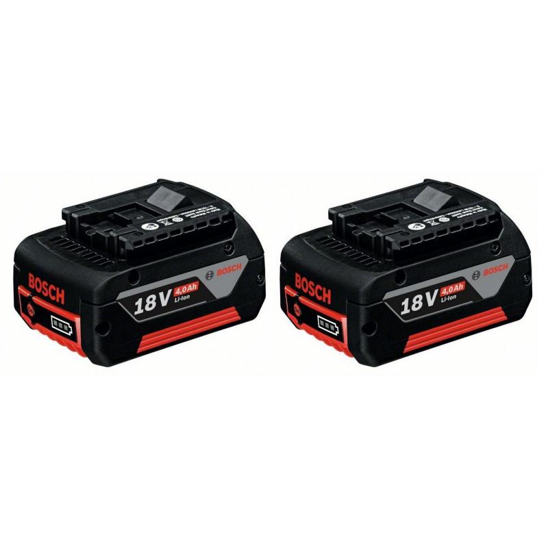 BOSCH 2x Li-Ion akumulator 18 V / 4,0 Ah Professional