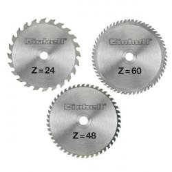 Einhell set reznih listova od tvrdog metala 3/1 Ø 250 x Ø 30 x 3.0 mm u aluminijskom kovčegu
