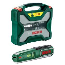 BOSCH X-Line 54-dijelni set burgija + 10 odvijača + laserska libela PLL 5