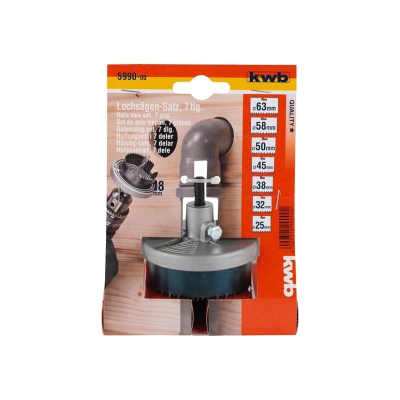 KWB kružna pila žaga testera za rupe 25 - 63 mm, dubina 18 mm, 7 kom
