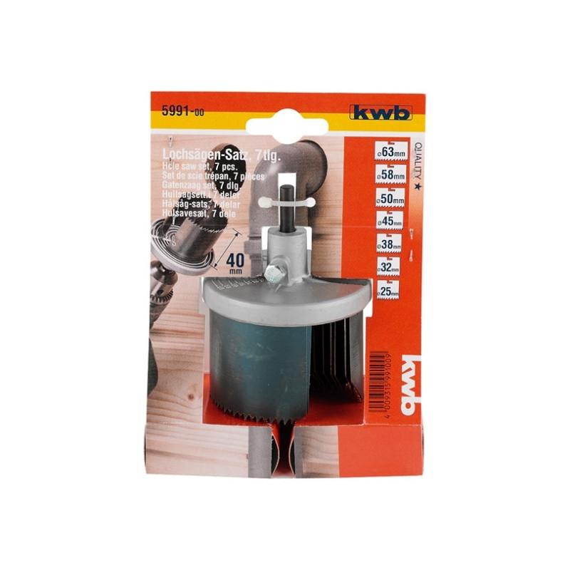 KWB kružna pila žaga testera za rupe 25 - 63 mm, dubina 40 mm, 7 kom