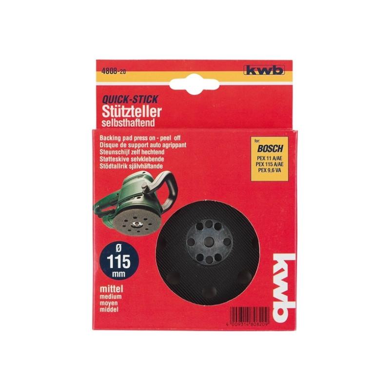 KWB gumeni disk 125 mm, za BOSCH PEX 270 A/AE