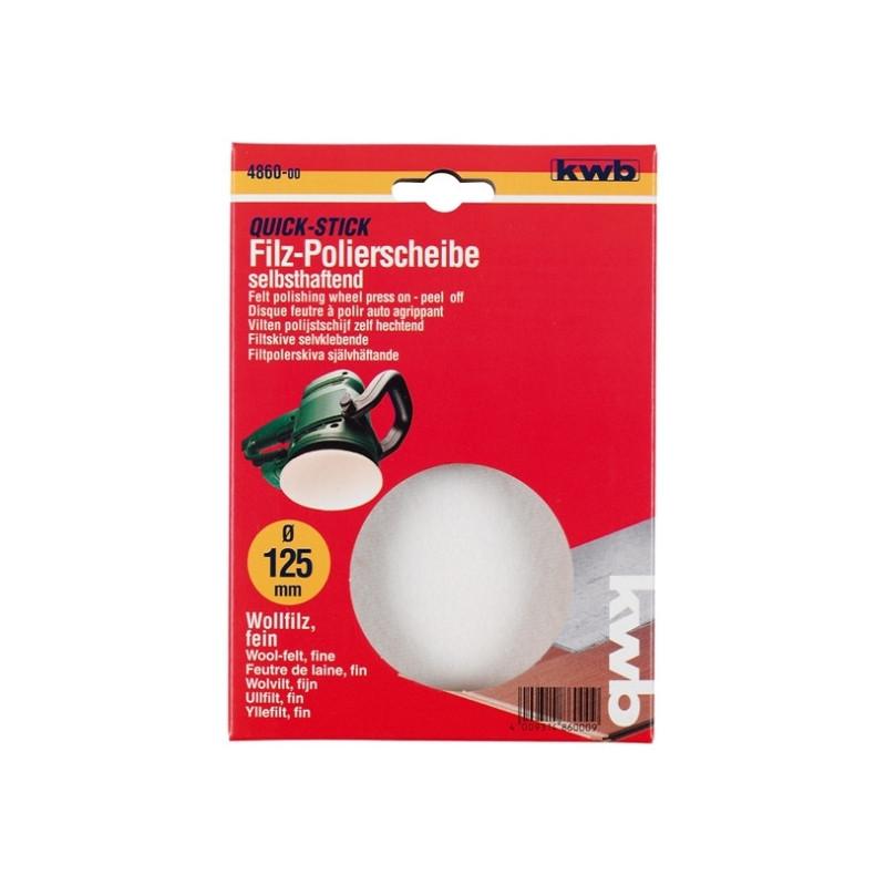 KWB samoljepivi filc krpa za poliranje 125 mm, bijela