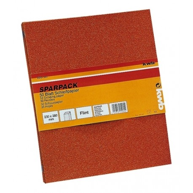 KWB SPARPACK brusni papir drvo - boja, 23 x 28 cm, (1/50 kom)