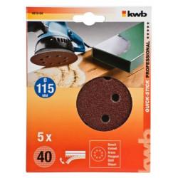 KWB serija samoljepivog brusnog papira za drvo - metal, 115 mm