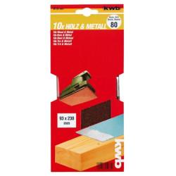 KWB serija brusnog papira za drvo - metal, 93 x 230 mm
