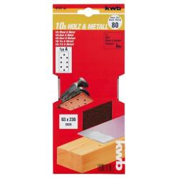 KWB serija brusnog papira za drvo - metal, 93 x 230 mm, tip A