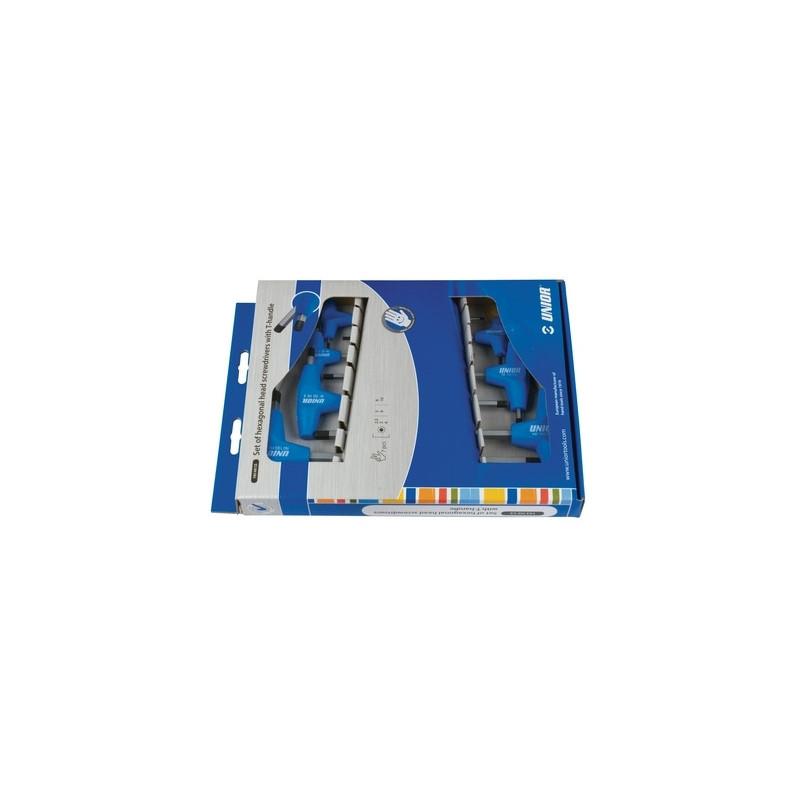 Unior ključevi imbus sa T-ručicom u kartonskoj kutiji 193HXCS (607890)