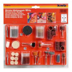KWB 105-dijelni rezervni pribor za višenamjensku brusilicu