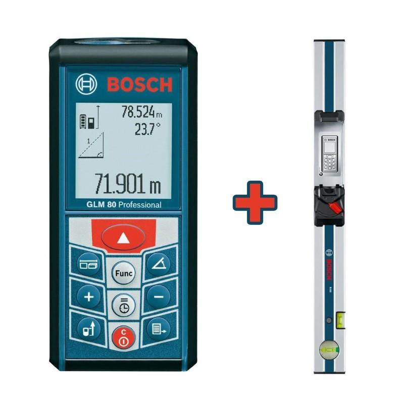 BOSCH laserski metar i mjerna vodilica GLM 80 + R 60 Professional