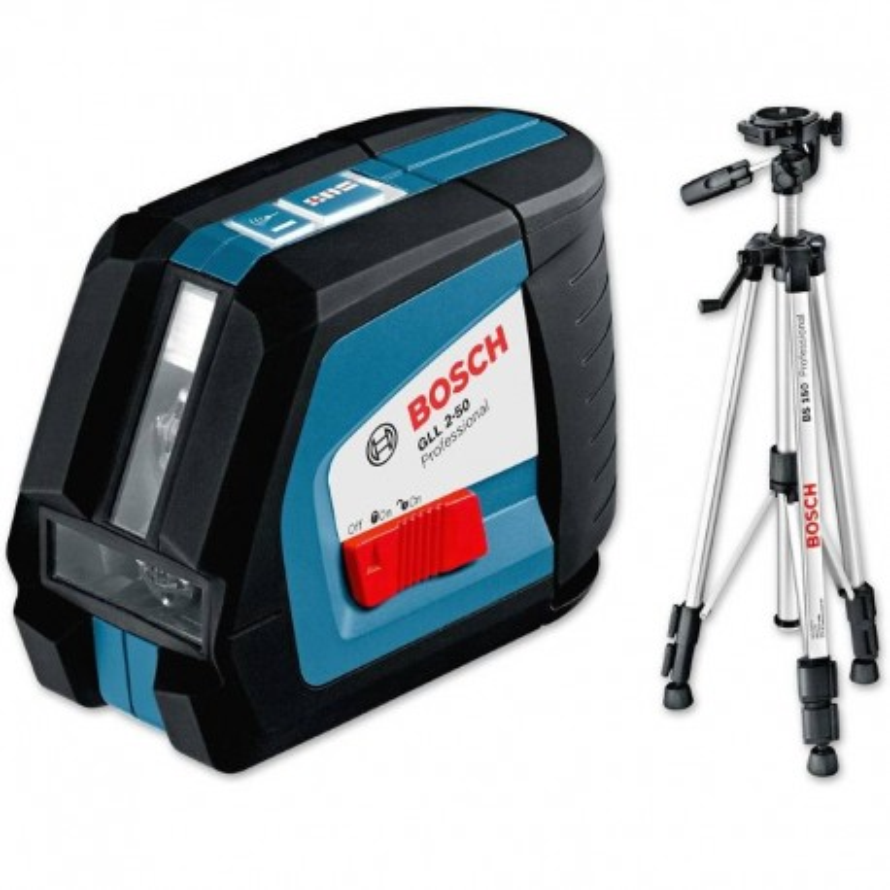 BOSCH laserski nivelir + građevni stativ GLL 2-50 + BS 150 Professional