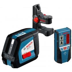 BOSCH laserski nivelir + prijemnik + držač GLL 2-50 + LR 2 + BM 1 Professional