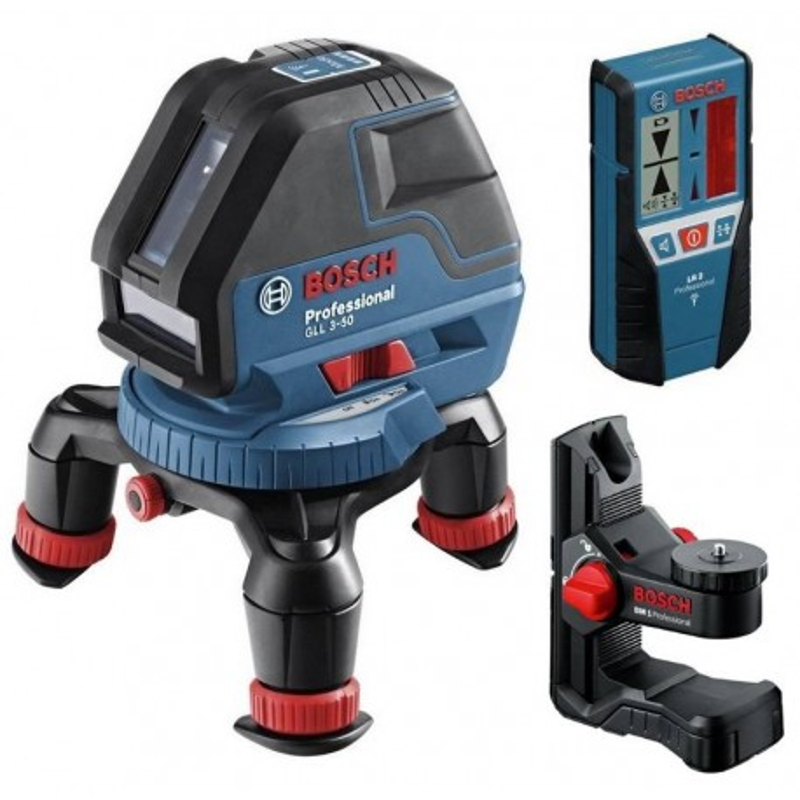 BOSCH laserski nivelir + prijemnik + držač GLL 3-50 + LR 2 + BM 1 Professional