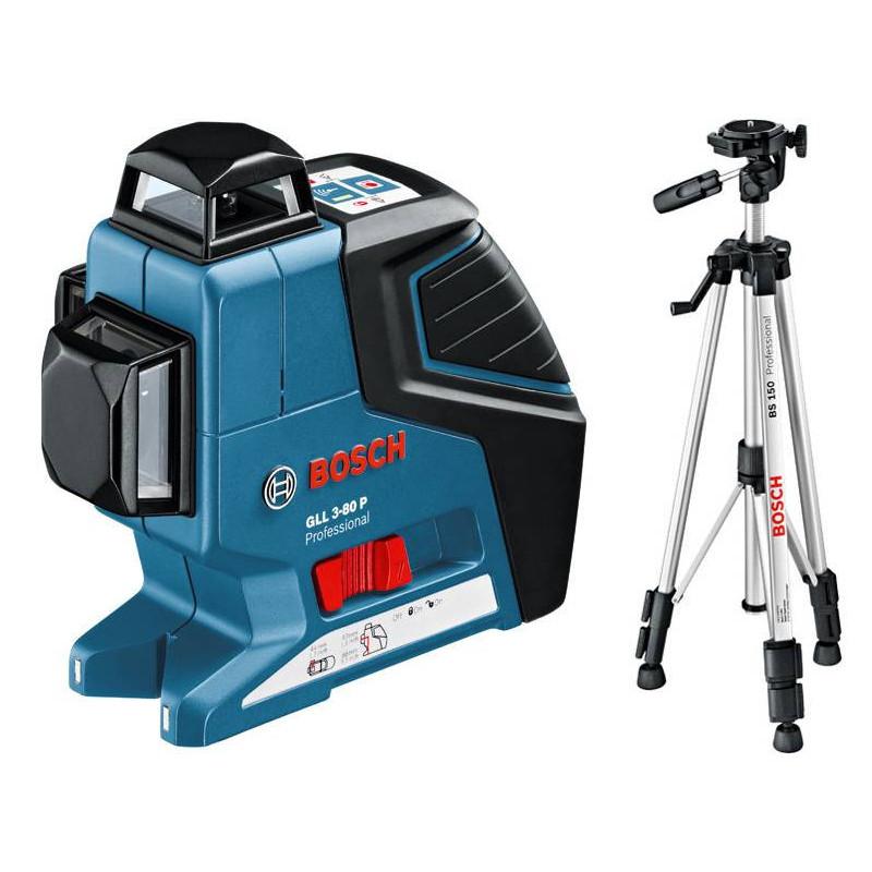 BOSCH laserski nivelir + građevni stativ GLL 3-80 P + BS 150 Professional