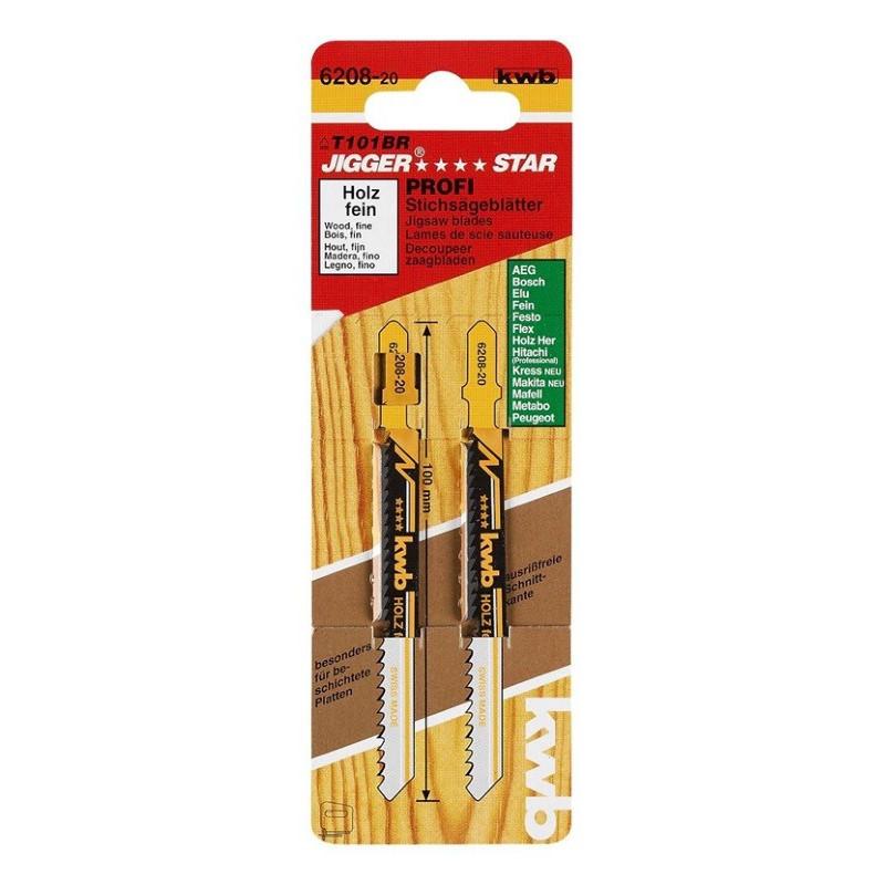 KWB list za ubodnu pilu l - 100 mm fini za drvo i plastiku 2/1
