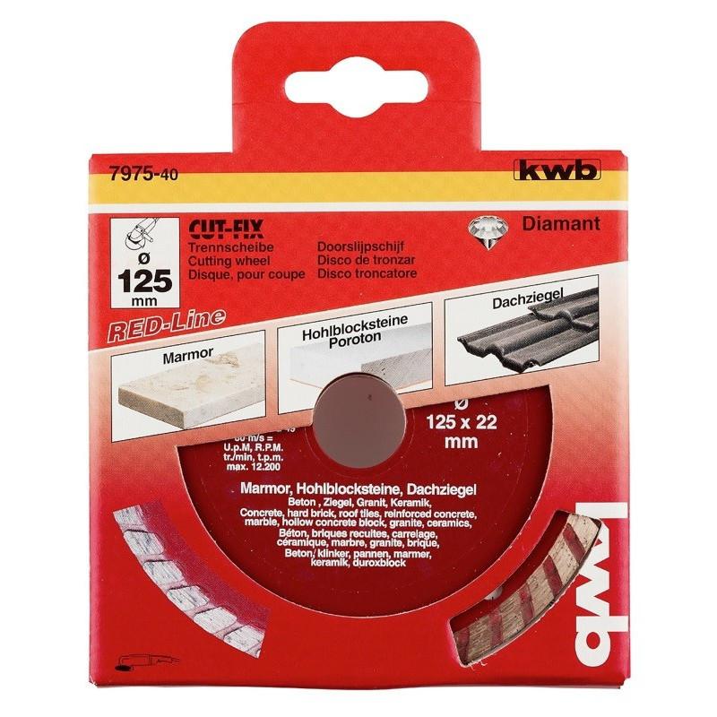 KWB serija dijamantnih reznih ploča za beton RED Line
