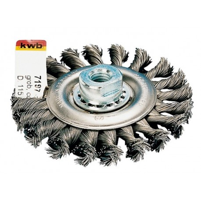 KWB ravna čelična pletena četka 100 mm M14