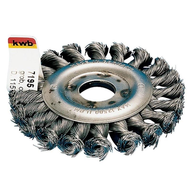 KWB čelična pletena četka 115 x 22 mm M14