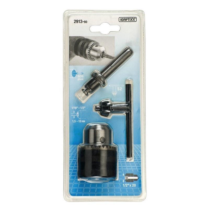 Kraftixx stezna glava 13 mm sa adapterom za SDS Plus