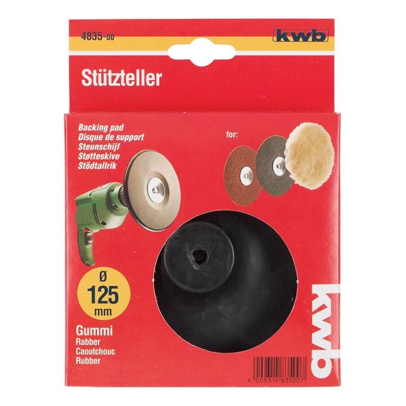 KWB gumeni disk za bušilicu 125 mm