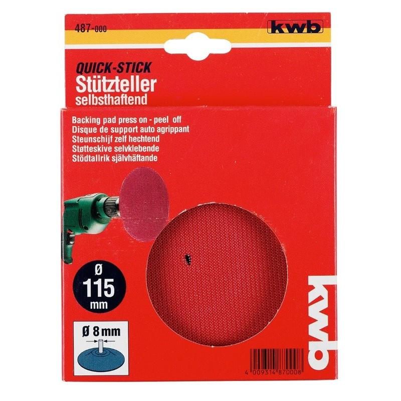 KWB gumeni disk za bušilicu - čičak 115 mm