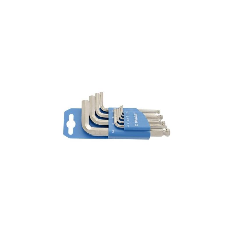 Unior garnitura imbus ključeva s kuglom na plastičnom stalku - 220/3SPH
