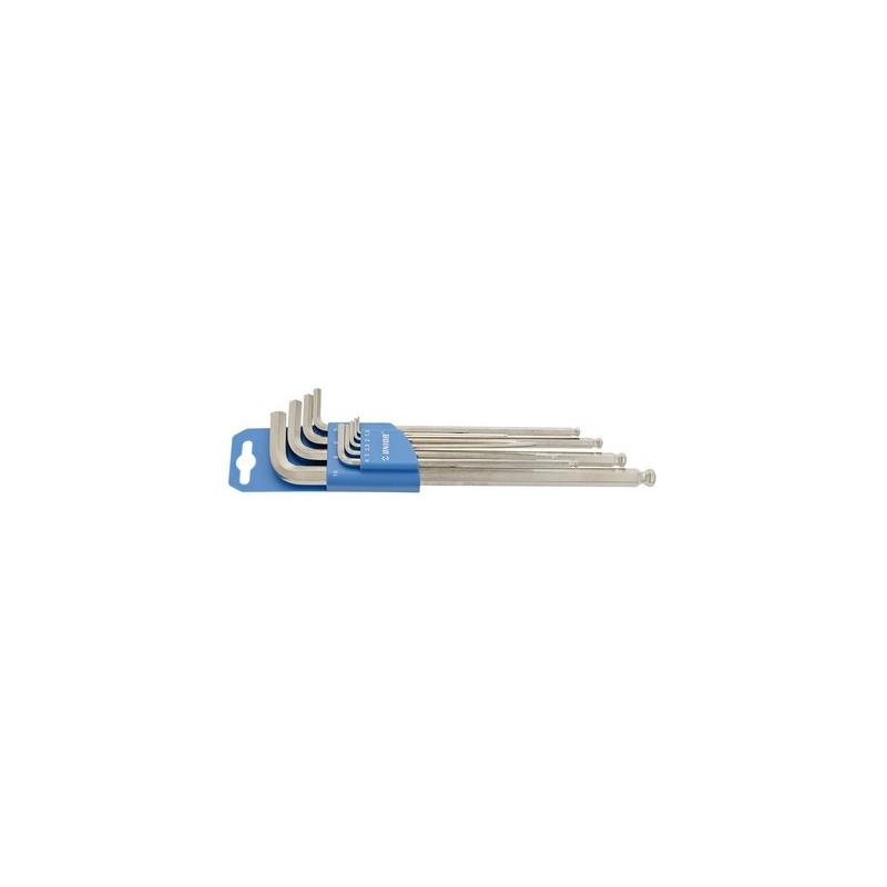 Unior garnitura dugih imbus ključeva s kuglom na plastičnom stalku - 220/3SLPH
