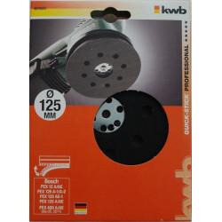 KWB gumeni disk 125 mm, za BOSCH PEX/GEX